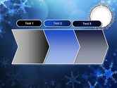 Blue Snowflakes Background PowerPoint Template#16