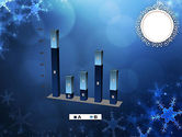 Blue Snowflakes Background PowerPoint Template#17