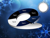 Blue Snowflakes Background PowerPoint Template#19