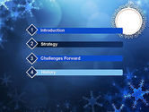Blue Snowflakes Background PowerPoint Template#3