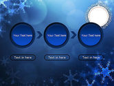 Blue Snowflakes Background PowerPoint Template#5
