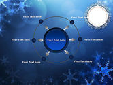 Blue Snowflakes Background PowerPoint Template#7
