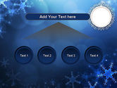 Blue Snowflakes Background PowerPoint Template#8