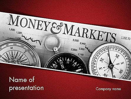 Money and Markets PowerPoint Template, 11559, Financial/Accounting — PoweredTemplate.com