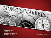 Financial/Accounting: Money and Markets PowerPoint Template #11559