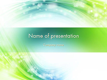 Green and Teal Swirl PowerPoint Template