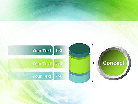Green and Teal Swirl PowerPoint Template Slide 11