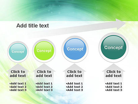 Green and Teal Swirl PowerPoint Template Slide 13