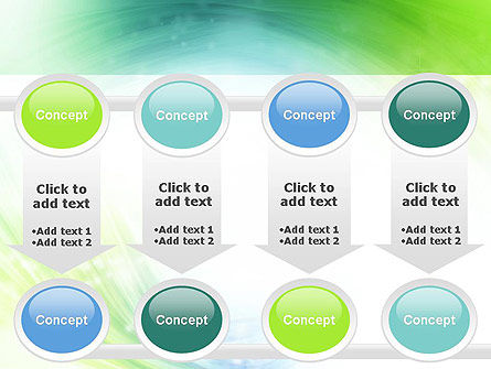 Green and Teal Swirl PowerPoint Template Slide 18