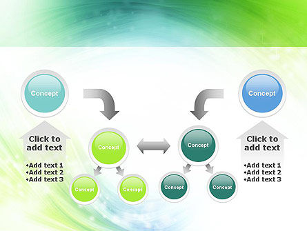 Green and Teal Swirl PowerPoint Template Slide 19