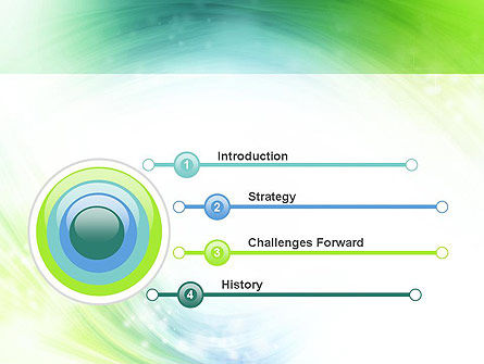 Green and Teal Swirl PowerPoint Template Slide 3