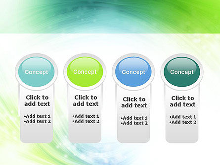 Green and Teal Swirl PowerPoint Template Slide 5