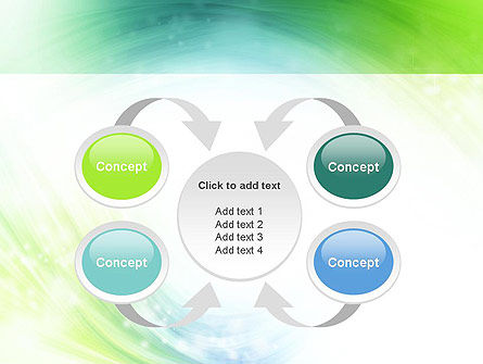 Green and Teal Swirl PowerPoint Template Slide 6