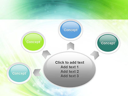 Green and Teal Swirl PowerPoint Template Slide 7