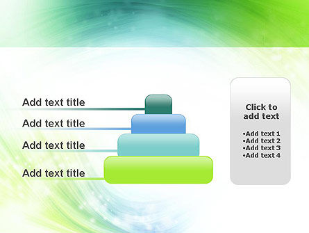 Green and Teal Swirl PowerPoint Template Slide 8