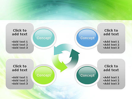 Green and Teal Swirl PowerPoint Template Slide 9
