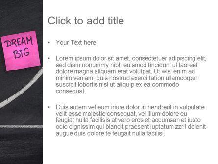 Think Big Dream Big PowerPoint Template, Slide 3, 11562, Education & Training — PoweredTemplate.com