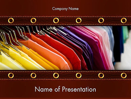 Colored T-shirts PowerPoint Template