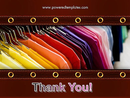 Colored T-shirts PowerPoint Template Slide 20