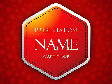 Red Background with Stars PowerPoint Template