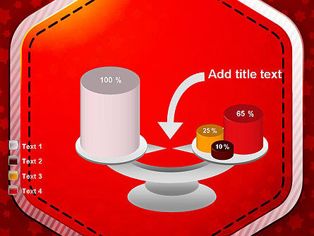 Red Background with Stars PowerPoint Template Slide 10