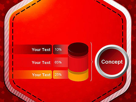 Red Background with Stars PowerPoint Template Slide 11