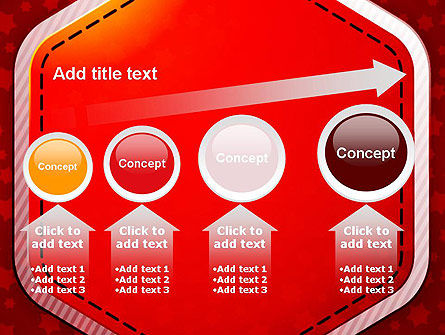 Red Background with Stars PowerPoint Template Slide 13