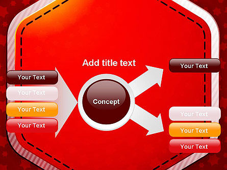 Red Background with Stars PowerPoint Template Slide 14