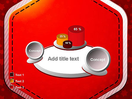 Red Background with Stars PowerPoint Template Slide 16