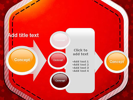 Red Background with Stars PowerPoint Template Slide 17