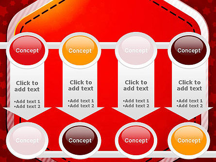 Red Background with Stars PowerPoint Template Slide 18