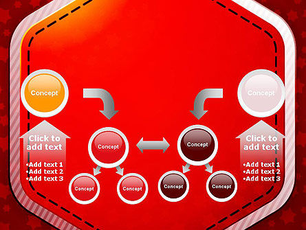 Red Background with Stars PowerPoint Template Slide 19