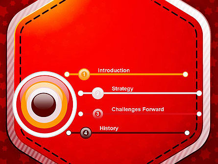 Red Background with Stars PowerPoint Template Slide 3