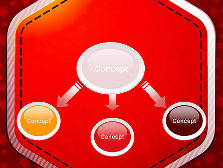 Red Background with Stars PowerPoint Template Slide 4