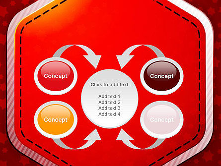 Red Background with Stars PowerPoint Template Slide 6