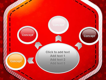 Red Background with Stars PowerPoint Template Slide 7