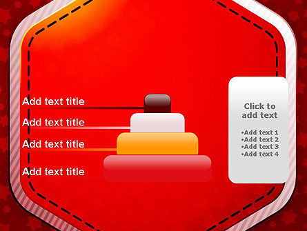 Red Background with Stars PowerPoint Template Slide 8