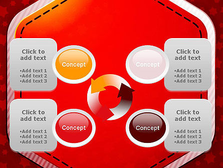 Red Background with Stars PowerPoint Template Slide 9