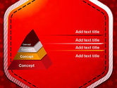 Red Background with Stars PowerPoint Template#12