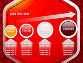 Red Background with Stars PowerPoint Template#13