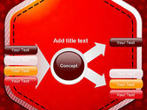 Red Background with Stars PowerPoint Template#14