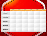 Red Background with Stars PowerPoint Template#15