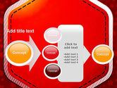 Red Background with Stars PowerPoint Template#17