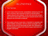 Red Background with Stars PowerPoint Template#2
