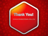 Red Background with Stars PowerPoint Template#20