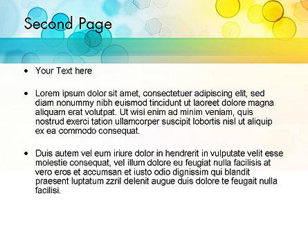 Blurred Lights PowerPoint Template, Slide 2, 11567, Abstract/Textures — PoweredTemplate.com