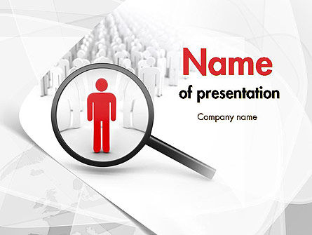 Careers/Industry: People Search PowerPoint Template #11568