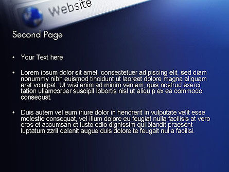 Web Browser PowerPoint Template, Slide 2, 11569, Technology and Science — PoweredTemplate.com