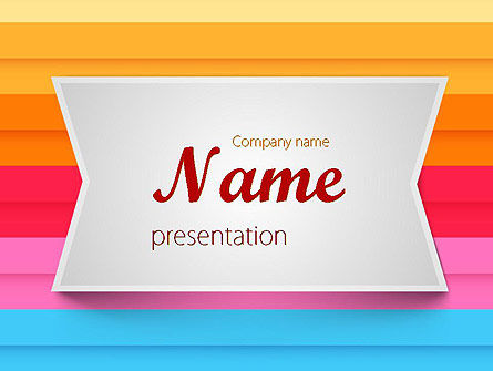 Abstract/Textures: Colored Horizontal Lines PowerPoint Template #11570