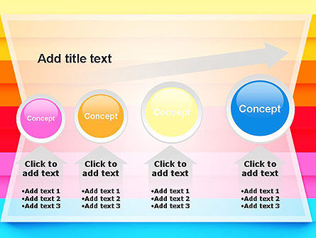 Colored Horizontal Lines PowerPoint Template Slide 13